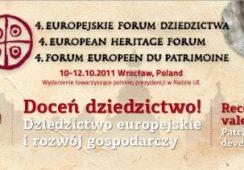 Rusza 4. Europejskie Forum Dziedzictwa