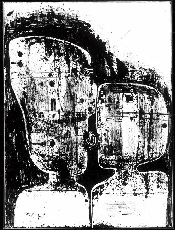 Zdzisław Beksiński, Kompozycja, 1959 r., źródło: Muzeum Historyczne w Sanoku