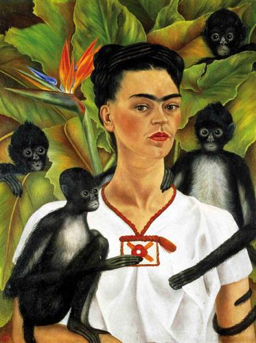 Autoretrato con monos (Autroportret z małpami, 1943), Frida Kahlo