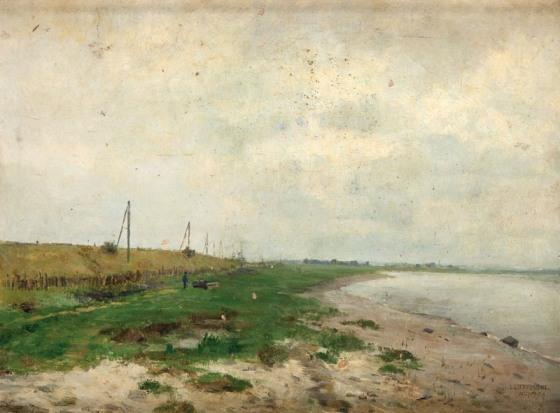 Aleksander Gierymski, Pejzaż z rzeką, Źródło: Desa Unicum