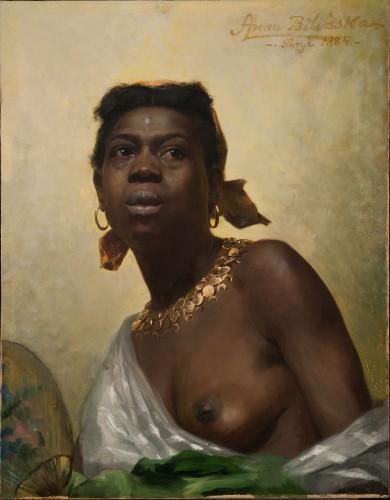 Anna Bilińska-Bohdanowiczowa, Murzynka, 1884, olej, płótno, 64 x 50 cm