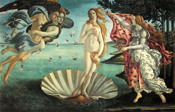 Narodziny Wenus, Źródło: The Uffizi Gallery