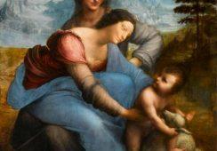 """Arcydzieło Da Vinci """"Dziewica z Dzieciątkiem i Św. Anną"""" zostało odnowione"""