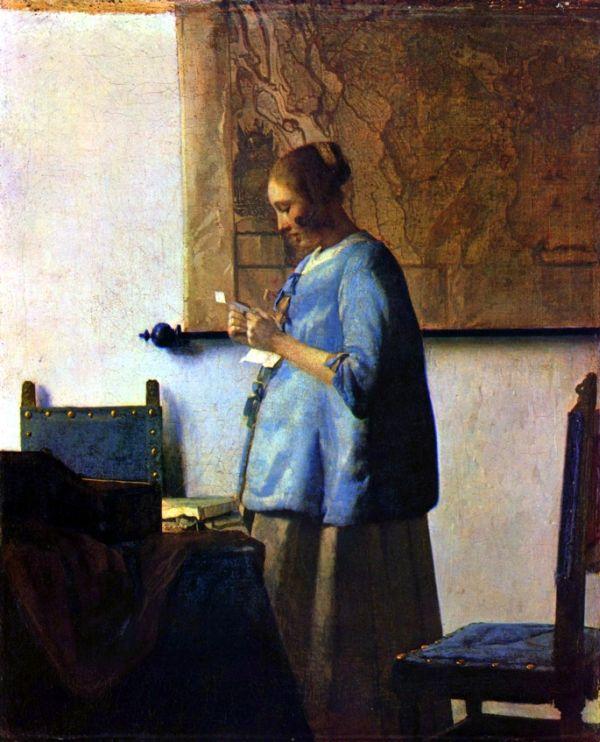 """""""Kobieta w błękitnej sukni"""", Źródło: Rijksmuseum"""