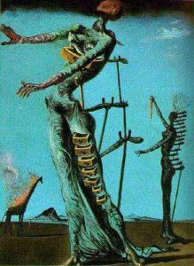 Salvador Dali, Płonąca żyrafa