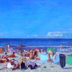 Sztuka Jacek-Plaża,90x160,2007,olej na płótnie