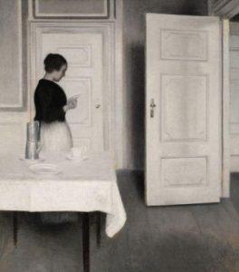 "Vilhelm Hammershoi, ""Ida czytająca list"", Źródło: Sotheby's"