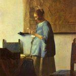 "Johannes Vermeer, ""Kobieta w błękitnej sukni"", Źródło: Rijksmuseum"