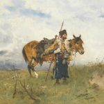 """Kozacki strażnik"", Józef Brandt, Źródło: Sotheby's"