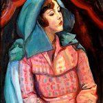 K.Pochwalski, Dziewczyna w szalu niebieskim, Źródło: Muzeum Narodowe w Krakowie