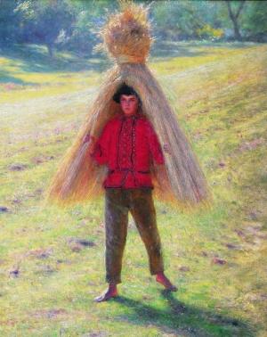 Aleksander Gierymski, Chłopiec niosący snop, Źródło: Muzeum Narodowe