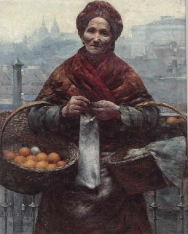 A. Gierymski, Pomarańczarka, Źródło: Muzeum Utracone