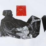 "Konrad Nykiel, ""Struktura"", linoryt, 100x70 cm, Źródło: ArtPower"