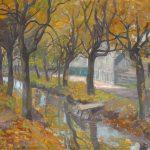 """ohanna Pistorius (1881-1965), """"Kanał we Wrocławiu"""", 1908, olej na płótnie, Źródło: Muzeum Śląskie"""