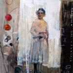 """Małgorzata Lazarek, """"Wspomnienie"""", 2012, olej na płótnie, Źródło: Muzeum Śląskie"""