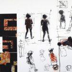 """Ryszard Gancarz, """"Miasto - segment VI"""", technika mieszana, 50x70 cm, artpower.pl"""