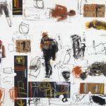 """Ryszard Gancarz, """"Na mojej ulicy – X"""", technika mieszana, 50x70 cm, artpower.pl"""