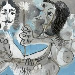 P. Picasso, Muszkieter i żeńskie kwiaty, źródło: christies.com