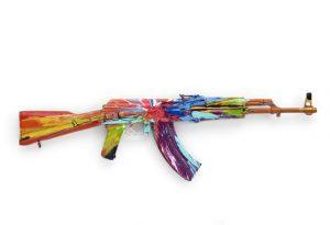 Spin AK47 for Peace Day' (2012), źródło:damienhirst.com