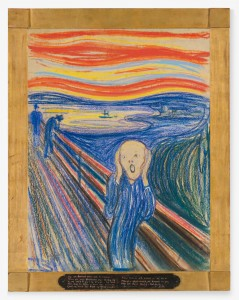 Edvard Munch, Krzyk, źródło: blog.artinfo.com