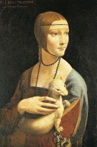 Leonardo da Vinci, Dama z Gronostajem, 1940 źródło:muzeum-czartoryskich.krakow.pl