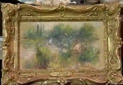 Odnaleziony obraz Pierre-Auguste'a Renoira źródło: NewsyHub / YouTube