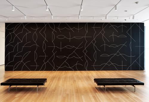 Instalacja, Sol LeWitt, źrodło: Museum of Modern Art