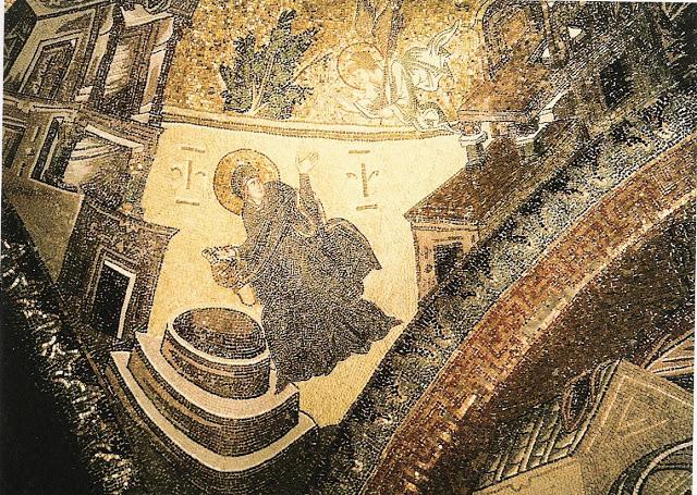 Zwiastowanie, mozaika w Chora, źródło: choramuseum.com