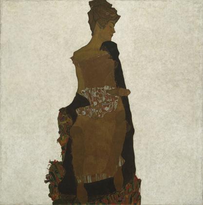 Portret Gerti Schiele, 1909, źródło: MoMA