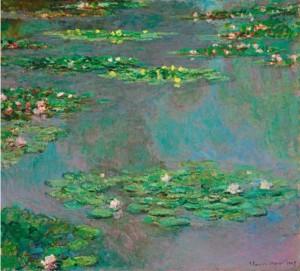 Claude Monet, Nenufary, 1906, źródło: Christie's
