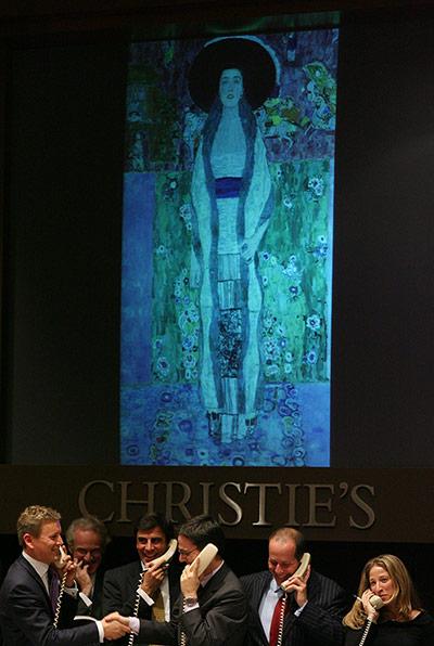 Gustav Klimt's Portrait of Adele Bloch-Bauer II (1912), źrodło: christies.com