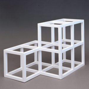 Sol LeWitt, Open Geometric Structure 2-2,1-1, 1991,źródło: The LeWitt Collection, Chester, CT.