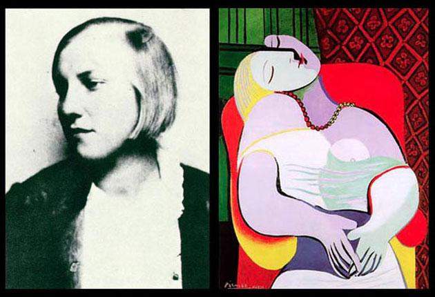 Marie Thérèse Walter oraz obraz Picassa, źródło: webartacademy.com