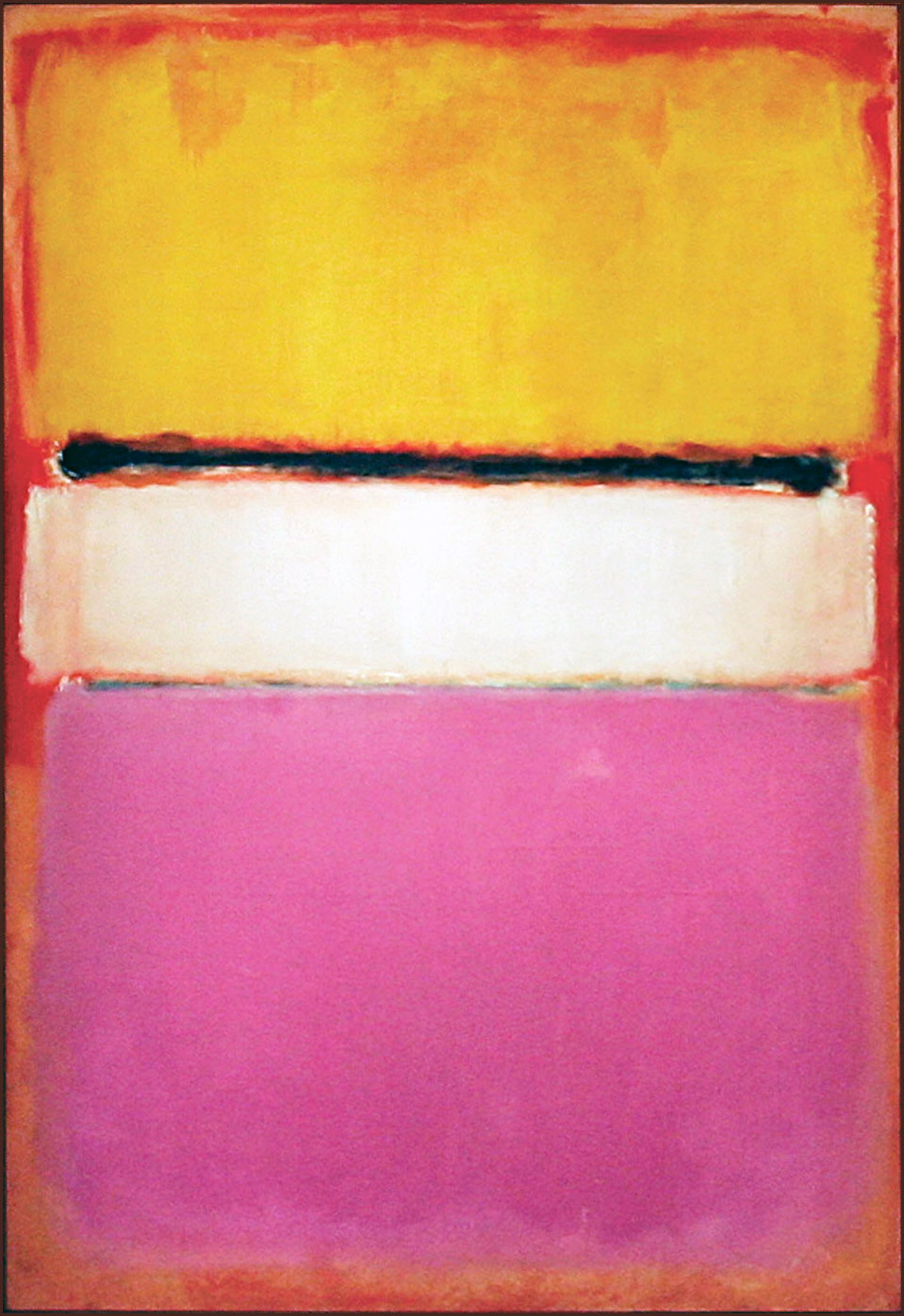 Mark Rothko, Yellow, Pink and Lavender on Rose, 1950, źródło: chriesties