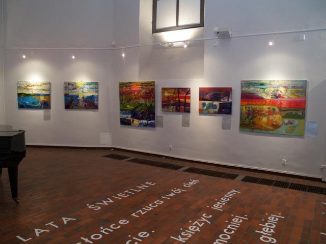 """Wystawa """"Light years""""Galeria Zamkowa, Lubin, 2010, fot. Dzięki uprzejmości artystki"""