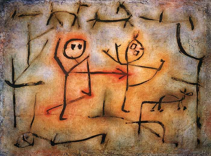 Paul  Klee, Her Pursuit, 1939, źródło: emuseum.zpk.org