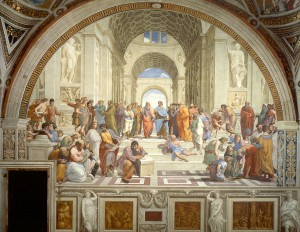 Rafael, Szkoła Ateńska, źródło: vatican.va
