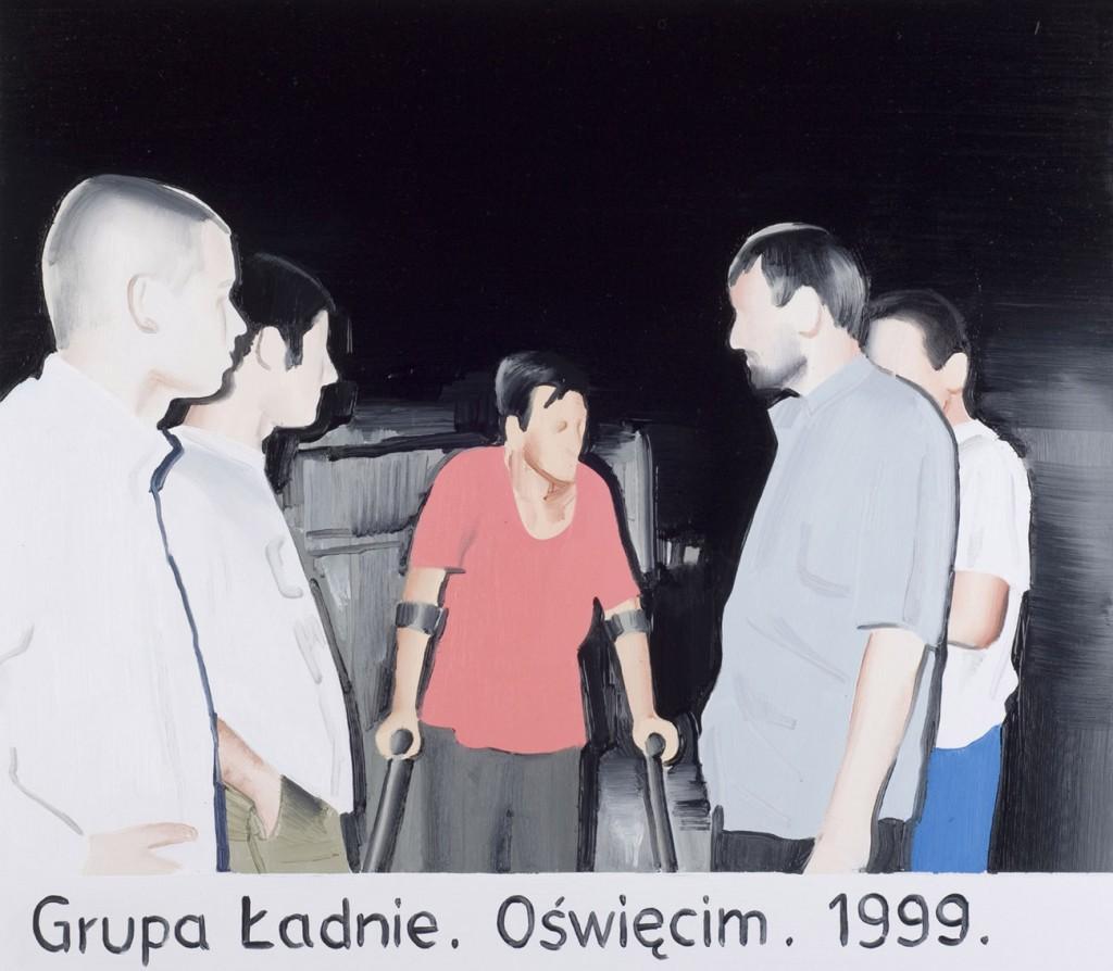 marcin Maciejowski, Grupa Ładnie, Oświęcim, 2006 olej na płótnie, 40 x 60 cm, źródło: galeria raster