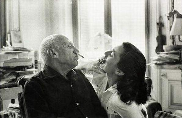 Pablo Picasso i Jacqueline Roque, źródło: tumblr.com
