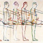 Bruce Nauman, Untitled. Five marchining men, 1985, źródło: leopoldmuseum.org