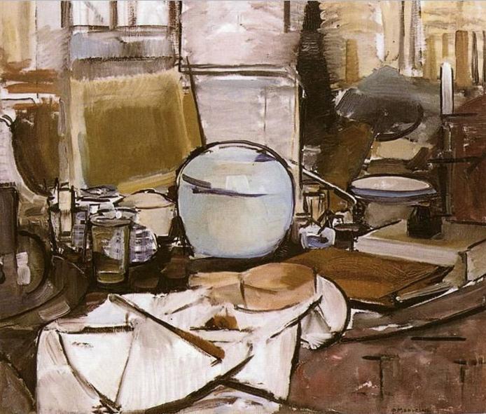 Piet Mondrian. Still Life with Ginger Jar II, 1911/12, źródło:Gemeentemuseum