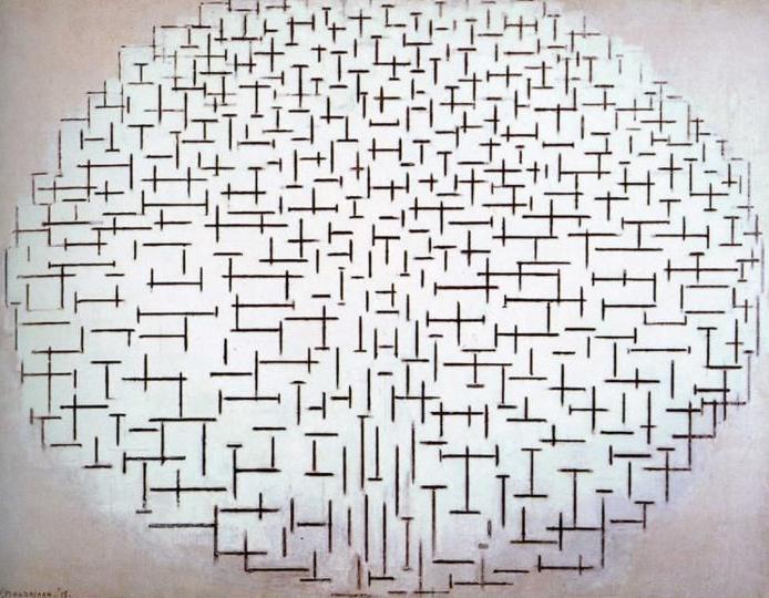 Piet Mondrian. Composition No.10 (Pier and Ocean), żródło: Rijksmuseum Kröller-Müller