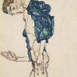 Egon Schiele, Prediger selbstakt mit gezpreizten Fingern, 1913, źrodło:leopoldmuseum.org