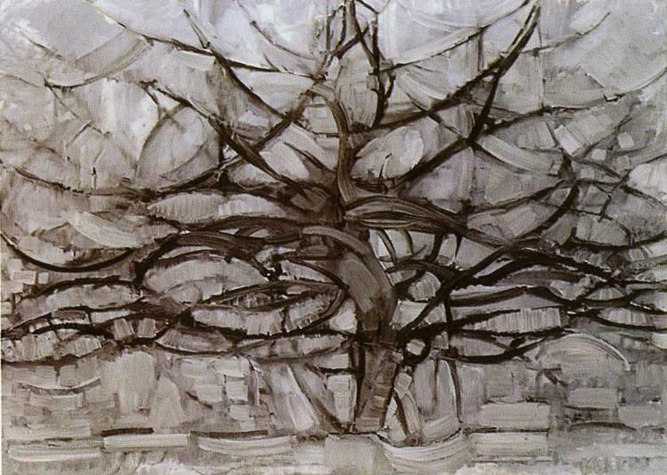 Piet Mondrian. The Grey Tree, 1912, źródło: Gemeentemuseum