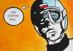"""Tomasz Bereźnicki, """"Ten ostatni raz"""", akryl, 70x100cm, artpower.pl"""