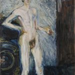 Richard Gerstl, Self -portrait With pallet, 1908 źródło:leopoldmuseum.org