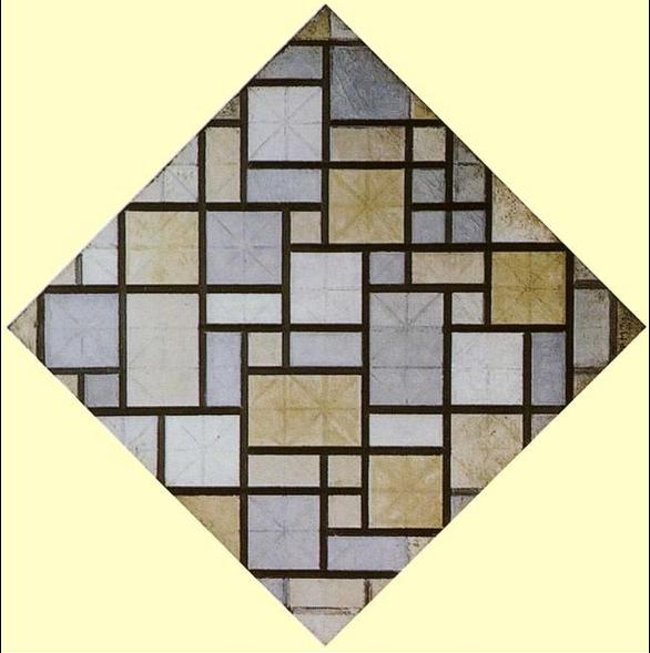 Piet Mondrian. Composition: Light Color Planes with Grey Lines. 1919, źródło: Rijksmuseum Kröller-Mülle