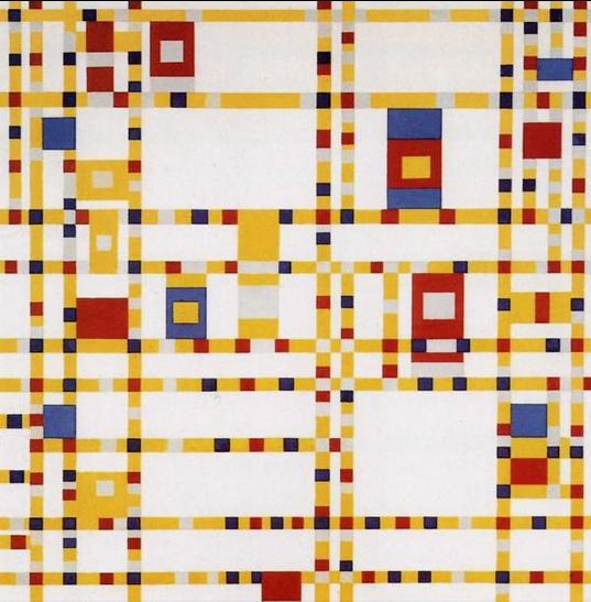 Piet Mondrian. Broadway Boogie-Woogie. 1942-43., źródło:MoMA