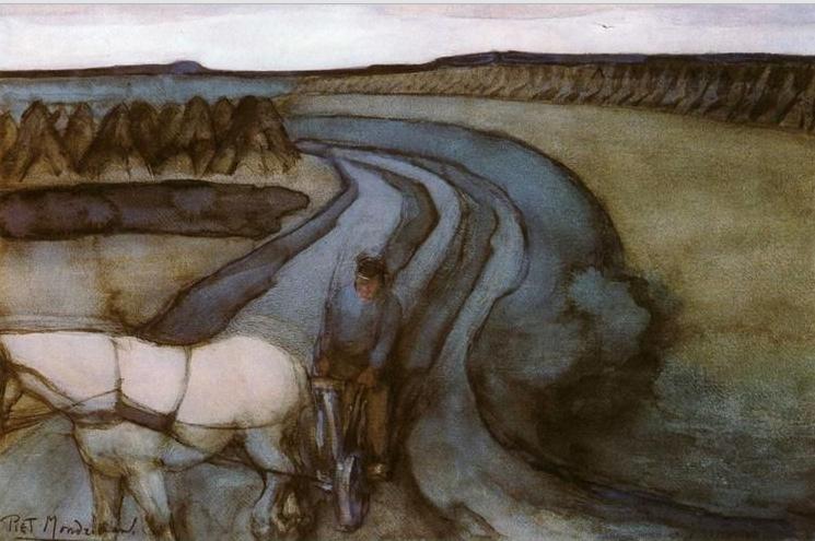 Piet Mondrian, W pracy, 1898, źródło: Gemeentemuseum