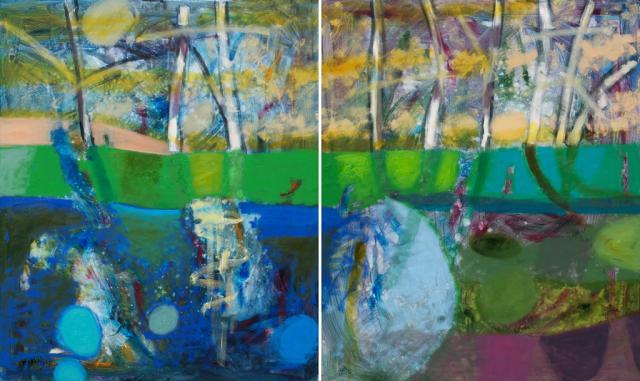 Z cyklu Anatomia Melancholii, olej na płótnie, 120x200 cm (dyptyk), 2012, fot. Dzięki uprzejmości artystki